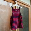 【子供服のサイズアップ方法】長袖ボーダーワンピースをノースリーブワンピースに作り変えました