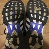 アディゼロジャパンの靴底のすり減り。
