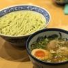 [ま]青葉の特製つけめん大盛りを「ずんだ風太麺」で喰らう @kun_maa