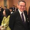 田中寅彦先生と中井広恵さん。