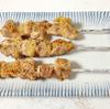 鶏肉と豚バラ肉の串焼き、焼鳥はいと楽しきものなり。