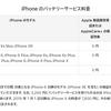 Apple、値下げ期間終了後のiPhoneバッテリー交換費用を公開