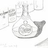 「スケッチ」の記録。お酒をテーマに描いてみました。感じたこと、そして、今後の展開は?