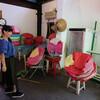 台湾:平渓車站近くのランタンのお店の小姐