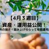 4月3週目 資産・運用益公開~資産1000万円の道~