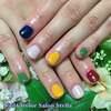SMAPカラーを秋色にアレンジ♡「秋色SMAP」ネイル☆ジェル