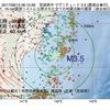2017年08月13日 06時15分 宮城県沖でM3.5の地震