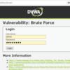 DVWAでBrute Force(Low)