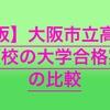 【高校受験2020】大阪市立高校の併願校の大学合格実績を比較