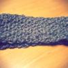 よね編みのヘアバンド