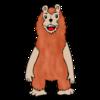 毛の生えたかわいいクマ のイラスト