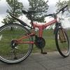フォルクスワーゲンの折りたたみ自転車で束の間サイクリング。