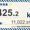 6/16〜6/22の総発電量は1,010.0kWh(目標比177.2%)でした