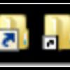 Windows、ショートカットアイコンを小さくする
