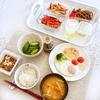 目玉焼き納豆朝食(実家)