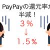 【悲報】PayPay(ペイペイ)利用特典・チャンスが10月から変更!!当選確率が・・・がくっと落ちます。