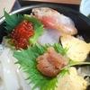 広〆  海鮮丼定食   あわびのたたき