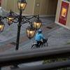 スペチアーレ・ポルト・パラディーゾ・サイド バルコニールーム(ピアッツァビュー)からの眺め『朝』 ~2016年3月・Disney旅行記 東京ディズニーシーホテルミラコスタ紹介【8】