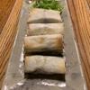 揚げない春巻き - おうち中華で3品(春巻き、空豆と海老の塩炒め、ねぎ塩冷奴)
