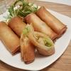 新芽野菜と海鮮の春巻