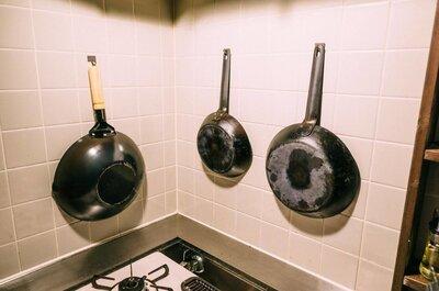【プチDIY】中華鍋をキッチンの壁に引っ掛けられるようにした!