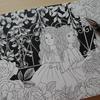 1】白黒の塗り絵に挑戦してみたいと思います☆心ときめく四季のワルツより