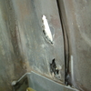 1971 マスタングマッハ1 クォーターポスト内錆穴修理1