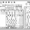 MARK STYLER株式会社 第14期決算公告