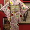 お花見コーデ! 桜色桜小紋 × 藤菖蒲お仕立て上がり刺繍名古屋帯
