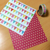 ほぼ洋2サイズ封筒 ガーランドの折り紙とマステを使って作る