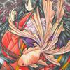 「金魚姫」色鉛筆&鉛筆オリジナルイラスト:夏祭りと言えば「金魚すくい」
