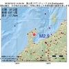 2016年10月12日 14時24分 富山湾でM2.9の地震