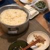 素麺、なにかの炒め物と冷奴