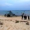 米軍ヘリが不時着 沖縄・伊計島の海岸、けが人なし