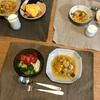 素オムライス、夏野菜のミネストローネ、(おとな)豆腐と生野菜