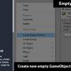 【Unity】( 0, 0, 0 ) の位置に空のゲームオブジェクトを作成するメニューを追加する「Empty At Zero Creator」紹介(無料)