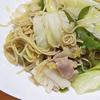 5月21日(金)昼食の焼きラーメンと、夕食のママカリ。