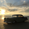 '56 CHEVROLET BEL AIRに乗って、夕陽。