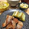 今日の夕食 豚肉の塩コショウ焼き