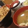 牛丼が恋しくなったので、すき屋でオススメのメガ盛りの牛丼と味噌汁、野菜のセットを食べてきました。