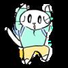 両手をあげて敵意がないことを伝えようとする猫のイラスト