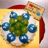 ドラゴンクエスト、スライムくんのお誕生日ケーキを作らせていただきました!