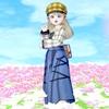 【タータンハンチング&ドレス上】とデニムスカート