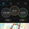 ペース走 21.1km 来週のトライアルマラソン目標