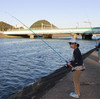 瀬戸川で川釣り