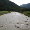 台風9号で増水