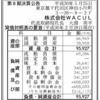 株式会社WACUL 第8期決算公告