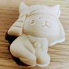 ひこにゃんもにゃかを食べてました・・・アンコは自分でいれるのでパリッとしてる!