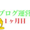ブログ運営報告!〜約1ヶ月目〜