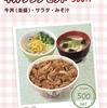 すき家の牛丼 大盛り (つゆだく) + サラダセット